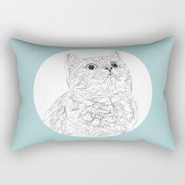 Kitty Cat in a Circle Rectangular Pillow