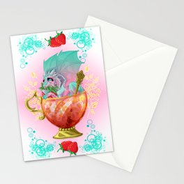 Strawberry Iced Tea Dragon Stationery Cards