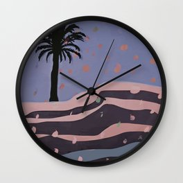 Autumnal Air around the Palm Tree Wall Clock