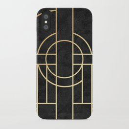 Art Deco Black Marble iPhone Case