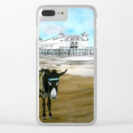 Seaside Donkey Clear iPhone Case