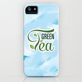 Green Tea. Green Tea Poster. Home Decoration iPhone Case