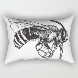 Anthophora Affabilis - Native Bee Rectangular Pillow
