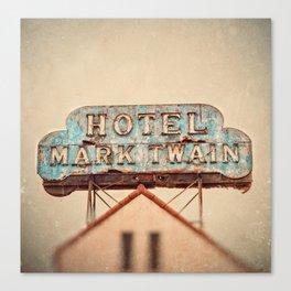 Hotel Mark Twain, Hollywood Canvas Print
