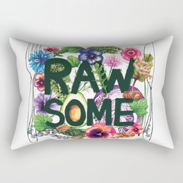 Rawsome - Plant Power Rectangular Pillow