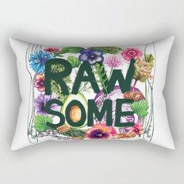 Rawsome - Plant Power Rectangular Pillow