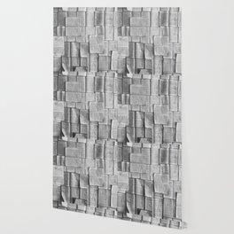 Novels Pattern (Black and White) Wallpaper
