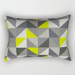 Neon yellow triangles geometric pattern Rectangular Pillow