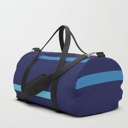 Abstract Minimal Retro Stripes Surf Duffle Bag
