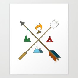 Let's Camp Art Print