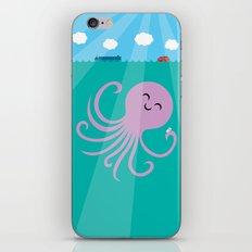 Octopus Selfie iPhone & iPod Skin