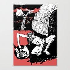 caveman red Canvas Print