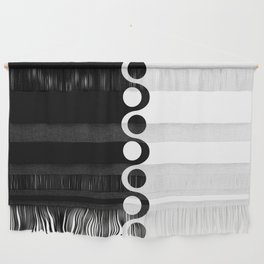 Black and White Mod Wall Hanging