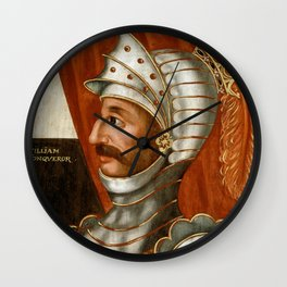 Vintage William The Conqueror Painting Wall Clock