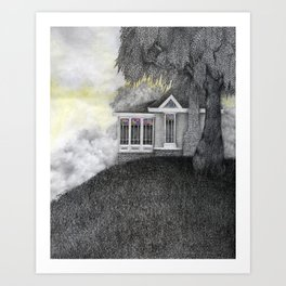 Willow House Art Print