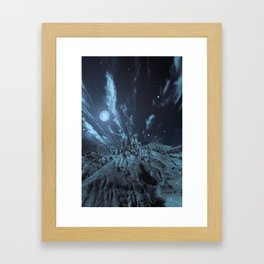 Blue Madness Framed Art Print