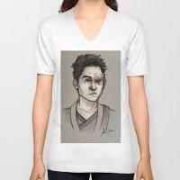zuko V-neck T-shirts featuring the Fire Prince by Zalazny