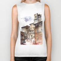 italy Biker Tanks featuring Cortona, Italy by zawij