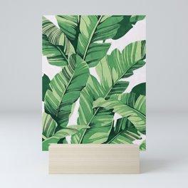 Tropical banana leaves V Mini Art Print