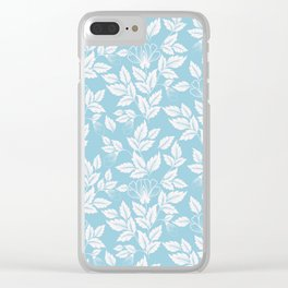 Leaves Pattern 10 Clear iPhone Case