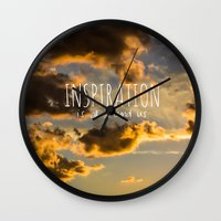 inspiration Wall Clocks featuring Inspiration by Michelle McConnell