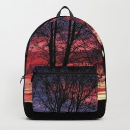 A Winter New England Sunset Backpack