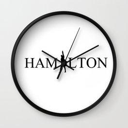 Hamilton Anthony Ramos black tee-shirts Wall Clock