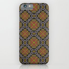 Curvy white highlights in aspen gold and turmeric 2019 spring/summer fashion colors iPhone Case