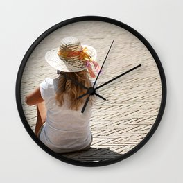 Blonde Girl Wall Clock