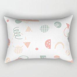 Playful Pastel Shapes Rectangular Pillow