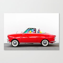 Balloon Car (Horizontal) Canvas Print