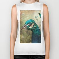 peacock Biker Tanks featuring Peacock by Pauline Fowler ( Polly470 )