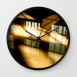 REFLECTIONS IN YELLOW Wall Clock