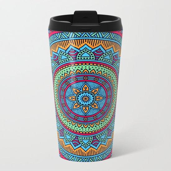 Hippie mandala 52 Metal Travel Mug