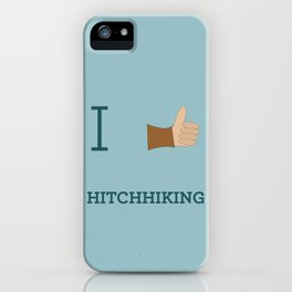 I heart Hitchhiking iPhone Case