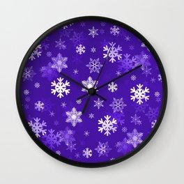 Light Purple Snowflakes Wall Clock