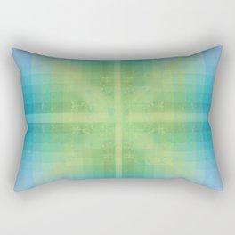 Aquamarine and Peridot Rectangular Pillow