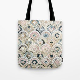 Art Deco Marble Tiles in Soft Pastels Tote Bag