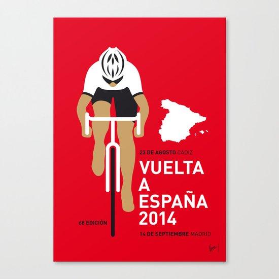 MY VUELTA A ESPANA MINIMAL POSTER 2014 Canvas Print