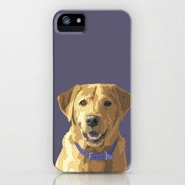 Happy Yellow Labrador Retriever Face iPhone Case
