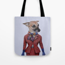 dog in uniform Tote Bag