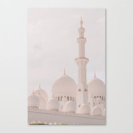 Sheik Zayed Mosque in Abu Dhabi Canvas Print