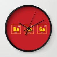 bazinga Wall Clocks featuring BAZINGA- tbbt by :: Fan art ::