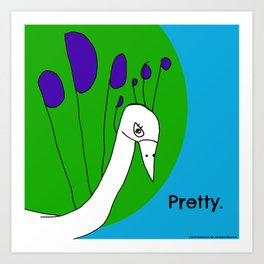 Pretty Peacock - Illustration by Child Art Print
