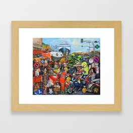 Il traffico di Palermo Framed Art Print