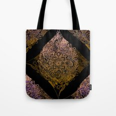 Detailed diamond, bordeaux glow Tote Bag