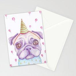 Birthday Pug Dog Stationery Cards