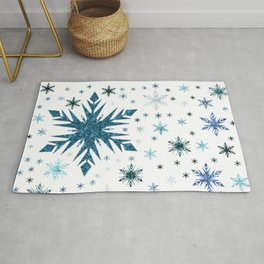 Frosty Abstract Rug