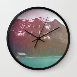 Dreamy Lake Louise Wall Clock