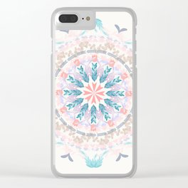 Pastel Goodness Soft Mandala Clear iPhone Case